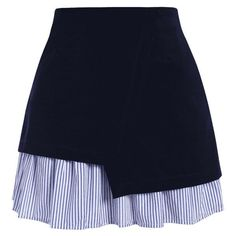 Stripe Panel Plus Size Skirt (66 RON) ❤ liked on Polyvore featuring skirts, mini skirts, bottoms, saias, faldas, blue striped skirt, plus size striped skirt, stripe skirt, blue stripe skirt and womens plus size skirts