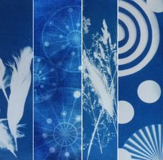 How to make your fabric print. Amazing!!! with cyanotype. It's in French so have…