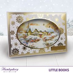 This card highlights how just using the one sheet with the right accessories can create a fantastic card in minutes. This image is from The Little Book of Snowy Scenes!