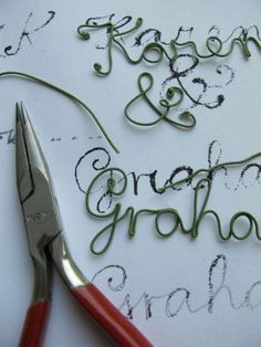 ThanksBreak out your long-nosed pliers create some darling DIY type with this wrapped wire lettering tutorial! Crafty Craft, Crafty Projects, Diy Projects To Try, Crafting, Wire Crafts, Crafts To Make, Jewelry Crafts, Jewelry Ideas, Wire Wrapped Jewelry
