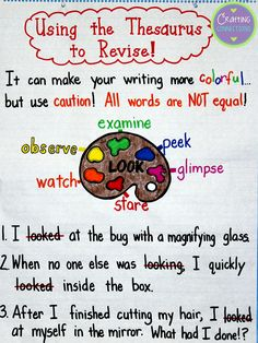 Crafting Connections: Using a Thesaurus to Revise!