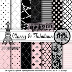 https://www.etsy.com/mx/listing/178365582/fondos-paris-papel-digital-rosa-palido #cocochanel #paris #ny #eiffeltower #pearls #lace #digitalpaper #paris #xvanos #bridetobe