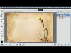 Applying Textures using Adobe Photoshop Elements - YouTube