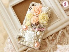 Free Phone Case & Trend Style Venetian Pearl Polymer Clay Flower DIY Deco Kit Decoden Kit  Deco Kit For DIY Cell Phone iPhone 4G 4S 5 Case