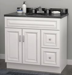 Riley bath vanity collection from Sunny Wood.