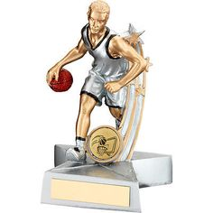 Silver male basketball #trophy,award,3 #sizes,free #engraving,  View more on the LINK: http://www.zeppy.io/product/gb/2/191422918501/