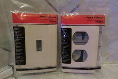 Screwless Decorator Wallplate Switch Cover & Duplex Outlet Pass & Seymour Almond #PassSeymoureLegrand