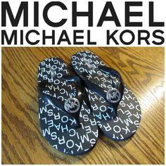 """NIB Michael Kors Logo Flip Flops Brand new, with original box, never worn! Black Michael Kors flip flops! GORGEOUS!! Black rubber sole with """"Michael Kors"""" font throughout the shoe. Black jelly thong with silver circular """"MK"""" logo on the front for a beautiful touch! Women's shoe size 11. 100% AUTHENTIC. PRICE FIRM Michael Kors Shoes Sandals"""