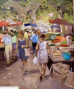 Marché d'été 81 x 65 cm http://www.pinterest.com/marimonte58/au-bord-de-la-mer/