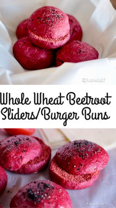 Whole Wheat Beetroot Sliders/Burger Buns