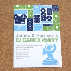 DJ Dance Birthday Party by MsPrintbyMarisa on Etsy, $29.90
