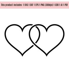Hearts Svg, Wedding Svg, Wedding Sign, Hearts vector files by WeddingdesignStore on Etsy
