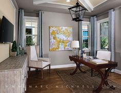 Everything's Included by Lennar, the leading homebuilder of new homes for sale in the nation's most desirable real estate markets. Office Decor, Home Office, Office Chic, Transitional House, Study Office, New Homes For Sale, Model Homes, Real Estate Marketing, Dining Bench