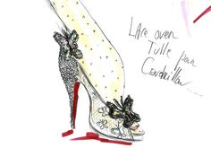 Christian Louboutin unveils Disney Cinderella slippers - I am having a major girly moment over here.