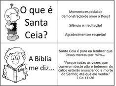 Aprendendo com o Departamento Infantil: Santa Ceia do Senhor e as Crianças ?!