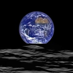 NASA's Lunar Reconnaissance Orbiter (LRO) recently captured a unique view of Earth from the spacecraft's vantage point in orbit around the moon. In this composite image we see Earth appear to rise over the lunar horizon from the viewpoint of the spacecraft