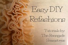 Easy DIY Refashion Tutorials 3