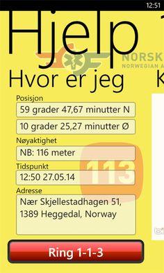 Norsk Luftambulanses app for å finne deg uansett hvor du er. Du kan laste den ned på Windows Store!