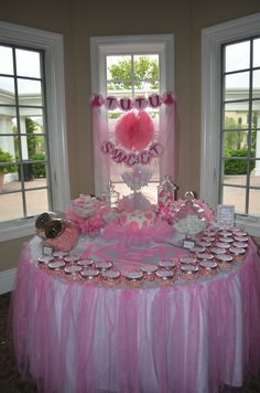 Polka Dots & Tutus Themed Baby Shower!  My friends did a fabulous job decorating my shower!