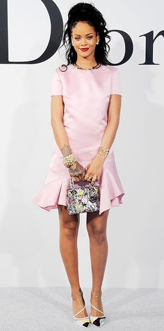 Look of the Day - May 8, 2014 - Rihanna in Dior from #InStyle