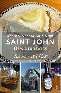 Where and what to eat and drink in Saint John, New Brunswick, Canada - a guide to the best food and drink in this up and coming city on the Bay of Fundy on Canada's east coast. The Maritimes. Travel in North America. Saint John New Brunswick, New Brunswick Canada, St John's Canada, Canada Trip, Canada Cruise, Saint John Canada, Atlantic Canada, Best Places To Eat, Canada Travel