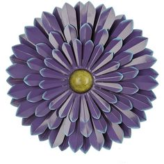 Purple Flower Metal Wall Plaque, 20 in. (€14) ❤ liked on Polyvore featuring home, home decor, wall art, purple home decor, metal wall plaques, outdoor wall plaques, metal flower wall art and flower wall plaques