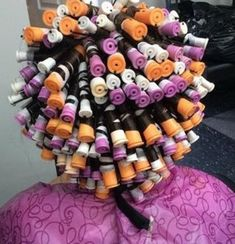 Perm Rods, Roller Set, Curlers, Halloween, Perms, Vintage, Rollers In Hair, Hair Perms, Vintage Comics