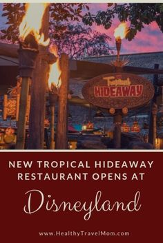 disneyland food The Tropical Hideaway is a brand new quick-service restaurant at Disneyland, located on the shores of the Jungle Cruise. Disneyland Paris Rides, Disneyland Secrets, Disneyland Food, Disneyland Vacation, Disney Trips, Disney Food, Disney Travel, Cruise Vacation, Vacation Destinations