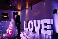 Wedding DJ Hire from 1Entertainments with our fantastic LOVE Letters