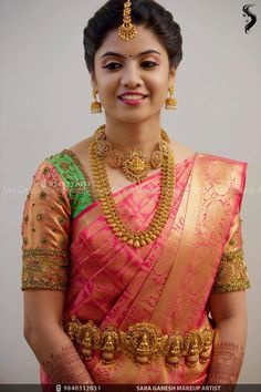 Muhurtham look for my lovely bride Rasika😊 For bridal bookings contact 9840312031 Bridal Hairstyle Indian Wedding, South Indian Bride Hairstyle, Indian Bridal Sarees, Wedding Silk Saree, Indian Bridal Hairstyles, Indian Bridal Makeup, Indian Bridal Fashion, Wedding Hairdos, Hair Wedding