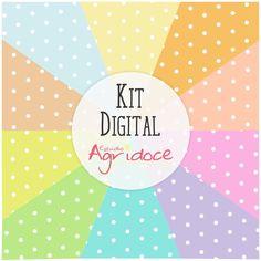 Kit Digital Papéis Poá