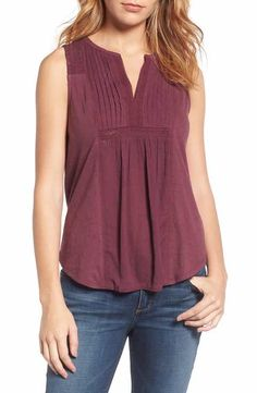 Lucky Brand Lace Trim Tank - love the colour and the cut