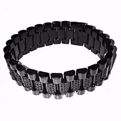 Blacked Out Presidential Bracelet by IceVersa on Etsy
