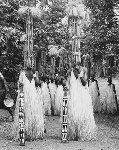 Africa | Ibo Masquerades. Nigeria. 1931. | Cross River Ibo. Nkporor tribe. 'Isiji' masquerade | ©Dr. G.I.Jones