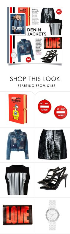 """""""#OOTD: Denim Jacket"""" by cstarzforhome ❤ liked on Polyvore featuring Olympia Le-Tan, Moschino, Diesel, Jolie By Edward Spiers, Alexander Wang, Valentino, Givenchy, DKNY, denimjackets and WardrobeStaples"""