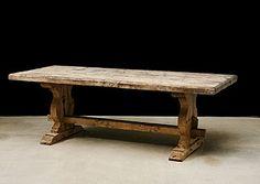 Belgian Antique Bleeched Beechwood Farm Table