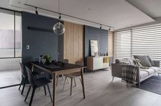 Modern industrial apartment located in Taiwan, designed in 2018 by AworkDesign. High Rise Apartments, Industrial Apartment, Modern Industrial, Architecture, Windows And Doors, Kitchen Interior, My Dream Home, Interior Design, Gallery