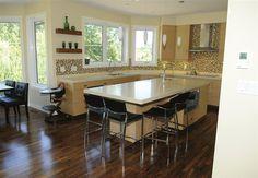 Echowood oak cabinets with quartz counter tops