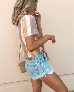 56 Chic and Easy Summer Outfit Ideas - Page 3 of 5 - Sommer + Strandmode - Modetrends Simple Summer Outfits, Spring Outfits, Casual Summer Fashion, Style Summer, Summer Clothes For Women, Comfortable Summer Outfits, Summer Vacation Style, Cute Vacation Outfits, Vintage Summer Outfits
