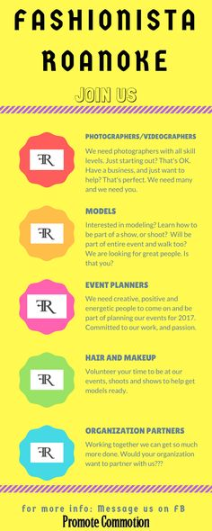 Fashionista Roanoke  2017       We are truly excited about 2017 and some changes and goals we have put in motion.      We are wanting ...