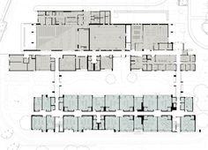 Beautiful Elementary School Floor Plans With Elementary School Digrouparchitecture Memorial Elementary School Education Architecture, School Architecture, Architecture Plan, School Floor Plan, School Plan, School Building Design, School Design, Elementary Schools, Arquitetura