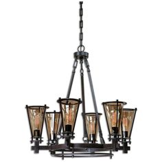 Uttermost Frisco 6 Light Metal Chandelier 21263