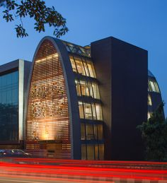 anagram architects faces office building with dynamic pixelated screen - designboom | architecture
