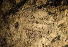"WWI ""grafitti"" by soldiers In this image made on Feb. 20, 2015 showing a name …"