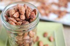 The almonds are the perfect balance of sweet and spicy. They taste great and aren't overly sugary like a lot of candied nuts! Eat them for a snack or enjoy them for dessert!