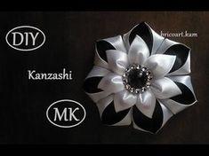 DIY/MK/Tutorial/Kanzashi flower red&gold - bricoart.kam - YouTube