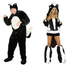 Pointlessly Gendered Skunk Costume (click thru for more Halloween examples)