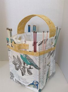 Ready to Ship/Ultimate Knitting Storage Tote  28 by AggieRay