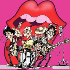 Rolling Stones Logo, Lion King Shirt, Rock Band Posters, Funny Photoshop, Caricature Artist, Celebrity Caricatures, Hippie Art, Best Rock, Keith Richards