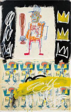 Jean-Michel Basquiat - Artist XXème - Underground Art - NeoExpressionism - Untitled, 1981